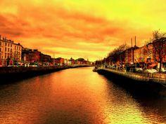 sunset Dublin, Ireland