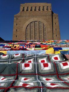 South Africa's first big yarn bomb!