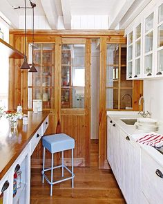 Small and narrow kitchen space on pinterest small for Narrow sliding patio doors