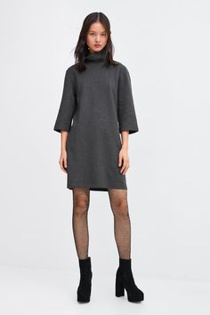 8d28444f51c Imagine 1 din ROCHIE DIN VELUR de pe Zara Cold Shoulder Dress