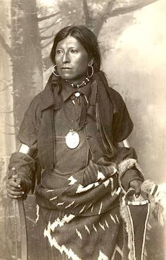 """Augustine"" Head Chief Of White Clan, Jicarilla Apache 1890. Photo by Frank Randall. Source - Palace of the Governors Archives."