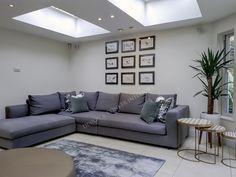 Picture gallery, corner sofa, Linnie rug and skylights - RIchmond Interior Decor