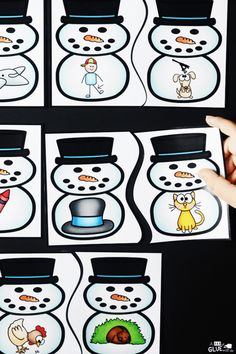 Snowman Rhyming Puzzles