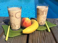 Pfirsich-Bananen-Smoothie - Power für Sportler und Energie zum Frühstück - Foodblog und Ernährungsberatung dieernaehrungswerkstatt/blog