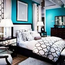 Ordinaire Image Result For Teal Black And White Bedroom