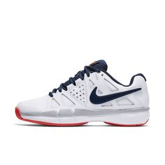 new styles 92355 de6eb Nike NikeCourt Air Vapor Advantage Women s Tennis Shoe Size 10.5 (White)