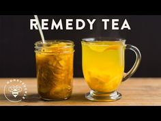 Cold Remedy Tea with Turmeric Ginger Honey Citrus - Honeysuckle - YouTube
