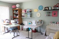Sewing Room Ideas for Small Spaces 52 Small Room Design Small Sewing Rooms Ideasroom organizing A Small Sewing Room Sewing Room 1 Sewing Room Organization, Small Space Organization, Craft Room Storage, Craft Rooms, Organizing, Organization Ideas, Storage Ideas, Small Sewing Rooms, Sewing Spaces