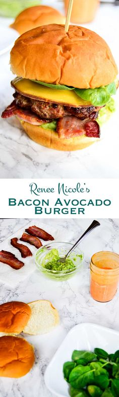 Renee Nicole's bacon avocado burger isn't just any burger. It's six layers of flavor, with flame grilled beef, served on a pillowy soft bun.This is how we do burgers.