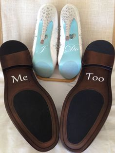 I DO  Me Too Wedding Shoe Decals