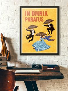 In Omnia Paratus Poster Vintage Retro Style by WindowShopGal