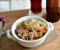 German-inspired stew made with pork, sauerkraut, & beer!