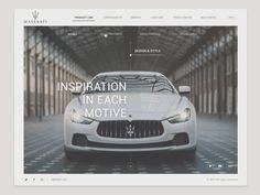 Maserati - UI Design