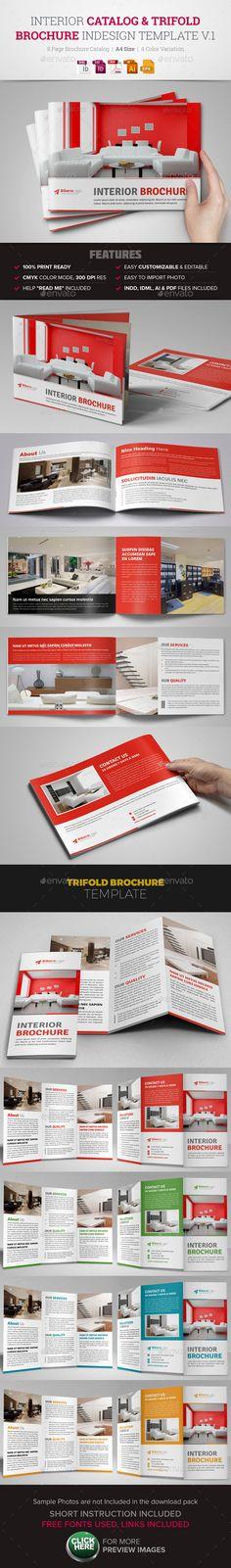 Interior Design Catalog Trifold Brochure