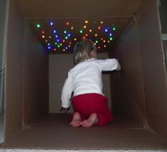 A CAVE OF STARS | Activities For Children | Cardboard Boxes, Imagination, Rainy Day Play | Play At Home Mom