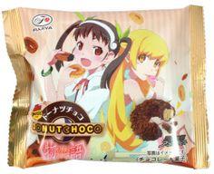 Shinobu Petit Donut Chocolate — All Package Design Set of 4 $9.50 http://thingsfromjapan.net/shinobu-petit-donut-chocolate-all-package-design-set-of-4/ #shinobu #Japanese donut #Japanese snack #anime