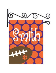Custom Personalized Yard Sign Football by Wheredyougetthatflag, $25.00