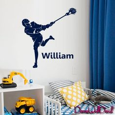 Wall Decal Lacrosse Helmet Personalized Custom Name Sport Player Kids Children Room Teens Kids Boys Girls Sticker Decor Art Police Box Gift Bedroom M1632 DecorWallDecals http://www.amazon.com/dp/B01986N0OY/ref=cm_sw_r_pi_dp_sb-Awb00NF13Q