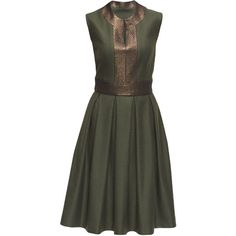 LATTORI Bronze Attraction, Split Neckline Dress ($99) ❤ liked on Polyvore featuring dresses, short dresses, bronze dress, bronze cocktail dress and mini dress