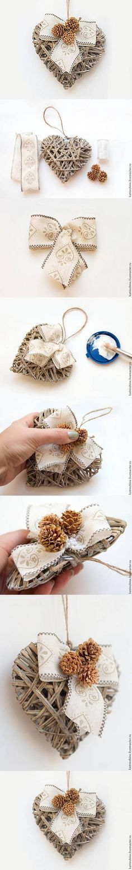 DIY Shabby Chic Heart DIY Projects / UsefulDIY.com