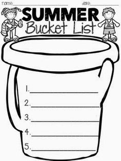 Worksheet Wednesday: Summer Bucket List - - I'm linking up with The Teaching Tribune for Worksheet Wednesday. Am I the only one who is in LOVE with their summer linky party? End Of Year Party, End Of School Year, Summer School, School Fun, School Days, School Parties, End Of Year Activities, Classroom Activities, Indoor Activities