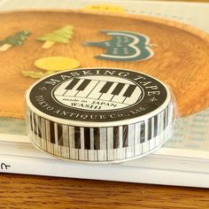 Japanese Washi Adhesive Masking Tape - Music Piano [Made in Japan]