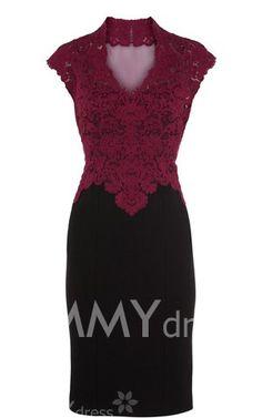 $39.82 Robe Moulante sans Manches Col Montant Fleur de Crochet Style Sexy Pour Femmes