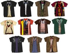 Doctor Who Costume Tees by jade.stormcloud. WANT!!!!