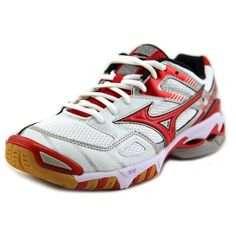 Mizuno Mizuno Wave Bolt 3 Women Round Toe Synthetic White Cross... (93 CAD) ❤ liked on Polyvore featuring shoes, white, synthetic shoes, mizuno, small heel shoes, white low heel shoes and round cap