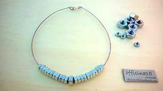 Collana rigida con elementi finitura argento : Collane di officina15