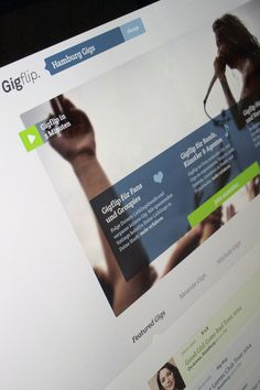 Gigflip.com by Martin Oberhäuser, via Behance