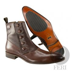 - Mens genuine leather chelsea boot with zipper - Real cow hide leather with genuine python upper - Genuine leather sole - Custom sole imprint with FERI design - Colour: Brown - Heel height: inches - Hardware plate: inches x inches Tap Shoes, Men's Shoes, Dance Shoes, Andrea Shoes, Leather Chelsea Boots, Brown Heels, Luxury Shoes, Cowhide Leather, Latest Trends