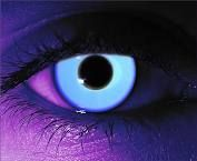 Rave blue / blue uv glow in the dark contact lenses