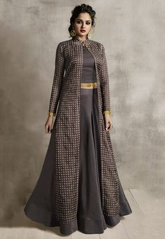 Indo Western Outfits: Buy Indo Western Dresses For Women Gown Party Wear, Party Wear Indian Dresses, Designer Party Wear Dresses, Indian Gowns Dresses, Kurti Designs Party Wear, Dress Indian Style, Indian Fashion Dresses, Indian Designer Outfits, Indian Outfits