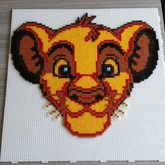 The Lion King hama beads by  dj_tuned_noizes