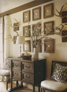 decorating with antlers | The Style Hunter Diaries: Home: Decorating With Antlers