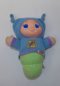 Playskool Hasbro 2005 Lullaby Gloworm Glo Glow Worm Light Up Plush Baby Toy Crib #Playskool