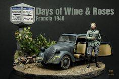 Francia 1940, después del armisticio, nuestro oficial de la 7ª Pz.Div. está acantonado en la zona de Burdeos. Se requisa material del ejército francés, y se incorpora a la Wehrmacht, incluidas algu…
