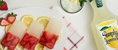 Simply Lemonade® Strawberry Ice Pops - There's nothing more refreshing than cooling off a hot summer day with Simply Lemonade Strawberry Ice Pops.