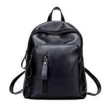 Like and Share if you want this  Women Leather Backpack Minimalist Solid Black School Bags for Teenage Girls Preppy Style Backpacks Rugzak Zaino Donna Sac a Dos     Tag a friend who would love this!     FREE Shipping Worldwide     Buy one here---> http://fatekey.com/women-leather-backpack-minimalist-solid-black-school-bags-for-teenage-girls-preppy-style-backpacks-rugzak-zaino-donna-sac-a-dos/    #handbags #bags #wallet #designerbag #clutches #tote #bag