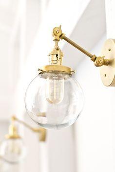 Massive Brass Sconce Roundup Elements Of Style Pinterest - Gold bathroom sconces