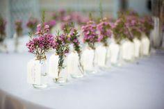 Jardins para casamento: Inclua as flores em todos os aspectos da decoração. Inclusive nas lembrancinhas! #BohoChic