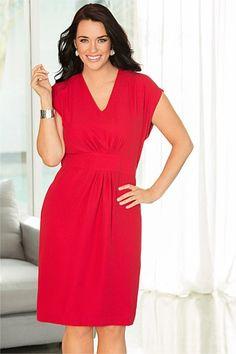 Introducing Modern Curve - Capture Woman Pleat Front Dress - EziBuy Australia