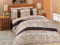 Pościel satynowa Valentini Bianco Limited Edition CLASICO KAWA, 160x200 + 2x 70x80 cm oraz 220x200 + 2x70x80 cm, 100% bawełna.