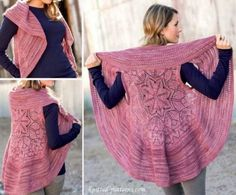 Toujours pour vous inspirez dans vos créations et vous donner des idées, découvrez des modèles de vestes et de gilets circulaires en laine à faire au crochet, aussi appelés gilets mandala..Pour vous aider, un tuto vidéo en dernière page. Comme vous le voyez, le gilet mandala est un gile...