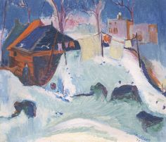 Jan Wiegers - Winter in Groningen Jan Wiegers (Dutch expressionist Ernst Ludwig Kirchner, Expressionist Artists, Snow Art, Davos, Colorful Roses, Dutch Painters, Famous Art, Winter Landscape, Art Of Living