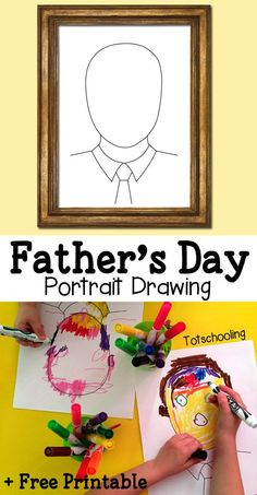 FREE Father's Day Portrait Drawing