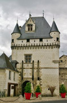 Cordeliers gate, the Royal City of Loches in the Loire Valley, France