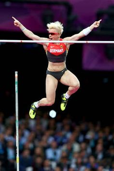 Martina Strutz of Germany in the Women's Pole Vault final in London 2012 Summer Olympic