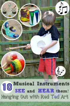 Because we all LOVE homemade musical instruments... this posts shares 10 craft ideas with you, but also lets you HEAR the instrument. See if you think it passes the sound test?!